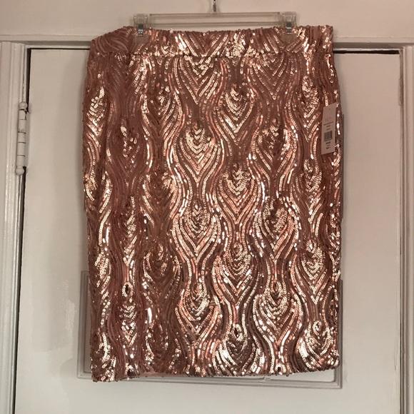 d25799e5d39 Plus Size Sequin Pencil Skirt